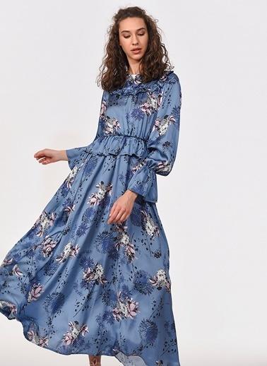 Mizalle Elbise Mavi